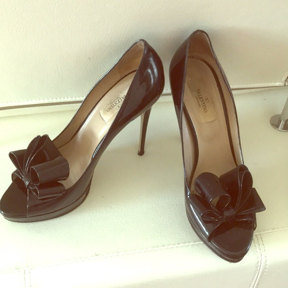 38f30e272483 Valentino patent leather peep toe platform 8.5. M 5aa99d041dffda39554c53f4.  Other Shoes ...
